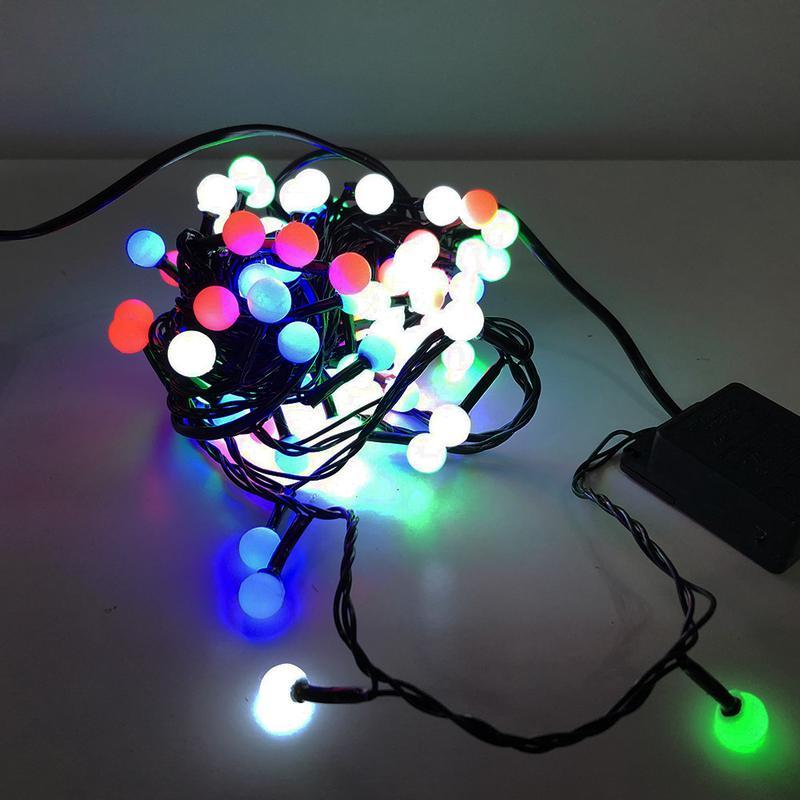 Гирлянда-нить String-Lights внутренняя разноцветная (пров.:черный
