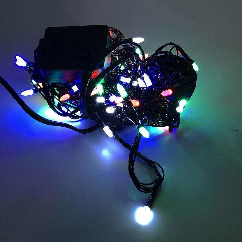 Гирлянда-нить String-Lights внутренняя разноцветная (пров.:черный - Фото 4