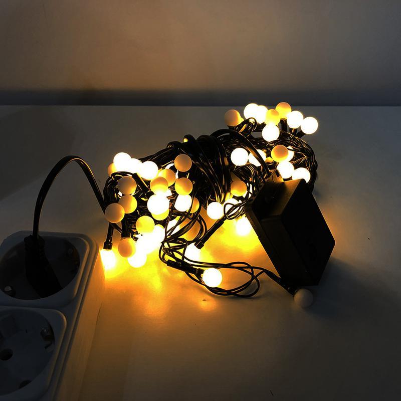 Гирлянда-нить (String-Lights) внутренняя белый-теплый (пров.:черн - Фото 2