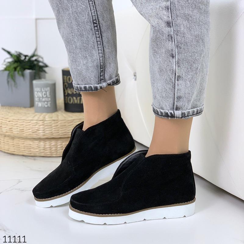 Стильные ботиночки деми из натуральной замши