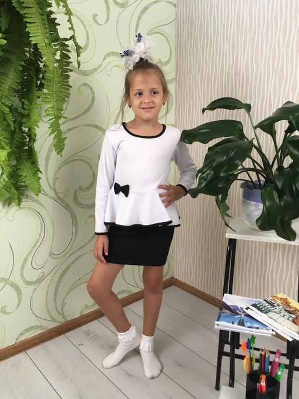 Блузка для девочки с баской