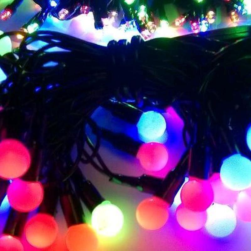 Новогодняя гирлянда шарики d- 16мм - Фото 2