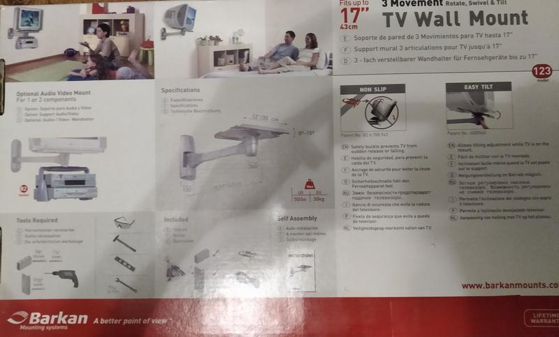 Крепление для телевизора/монитора c ЭЛТ BARCAN на стену - Фото 3