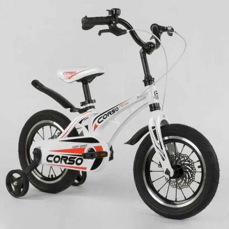 Детский двухколёсный велосипед. Corso MG-14 S 499 белый