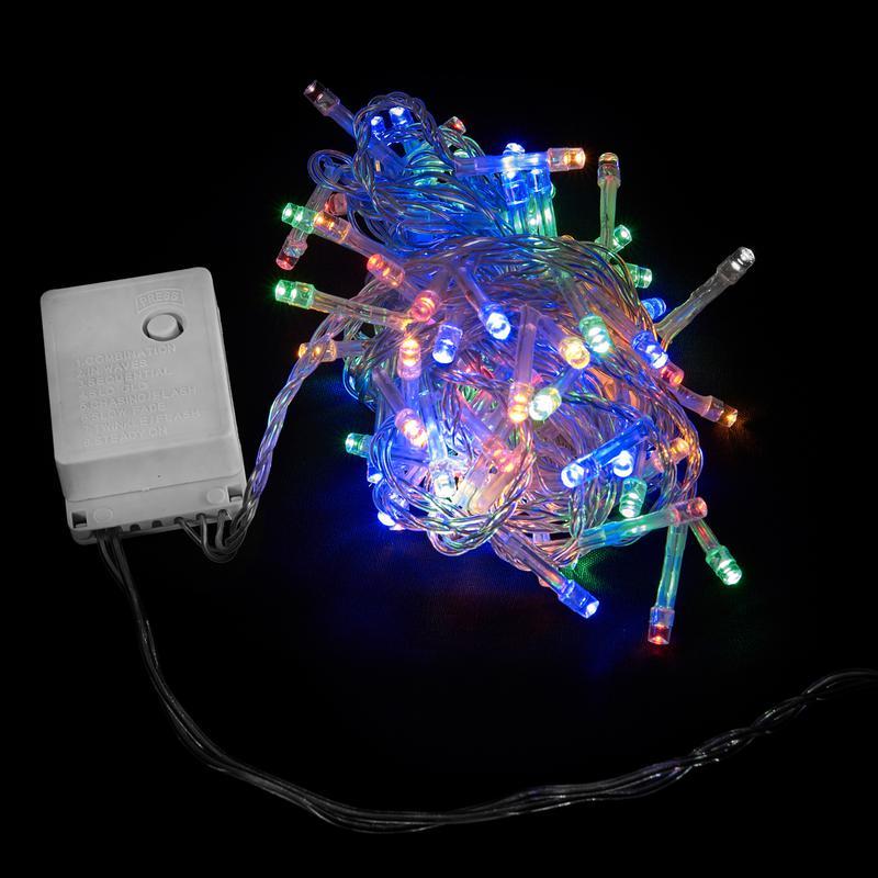 Яркая LED 5м 100 светодиодов многоцветная гирлянда