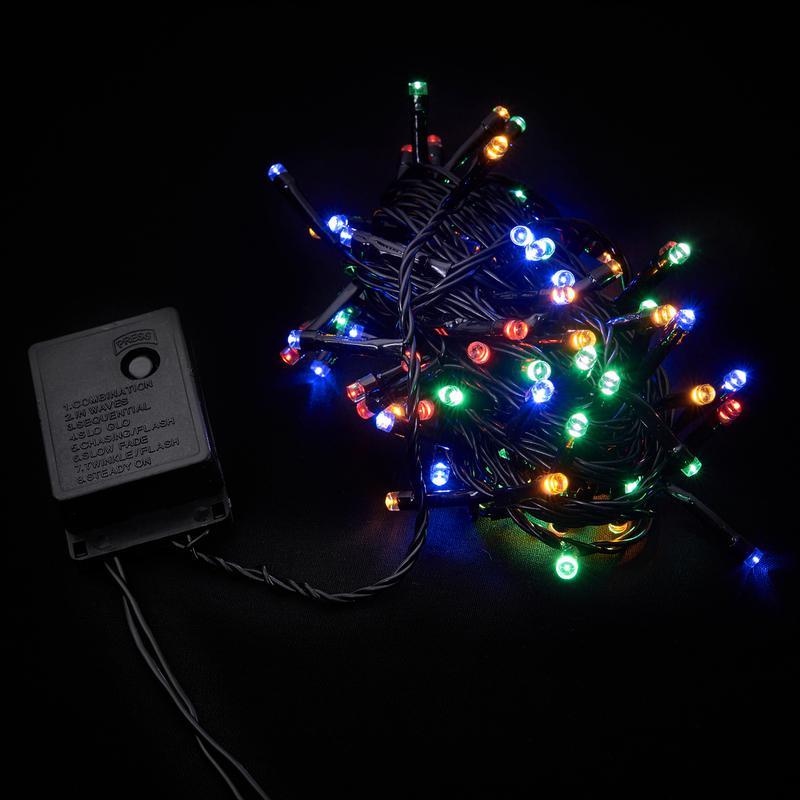 Яркая LED 5м 100 светодиодов многоцветная гирлянда - Фото 4