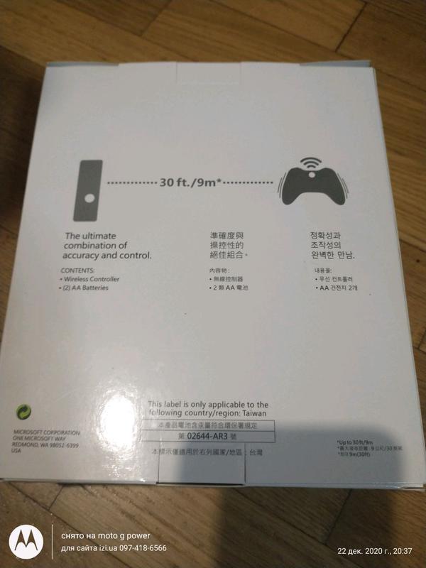Джойстик беспроводной геймпад xbox 360 черный / белый - Фото 2