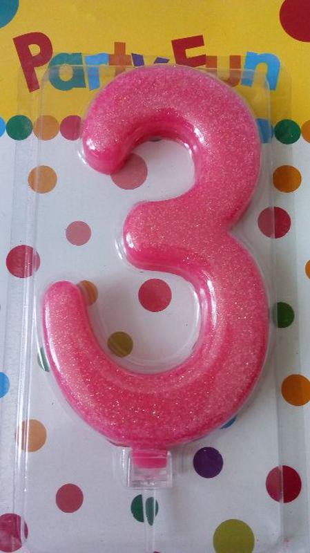 Цифра свечка на торт, свеча