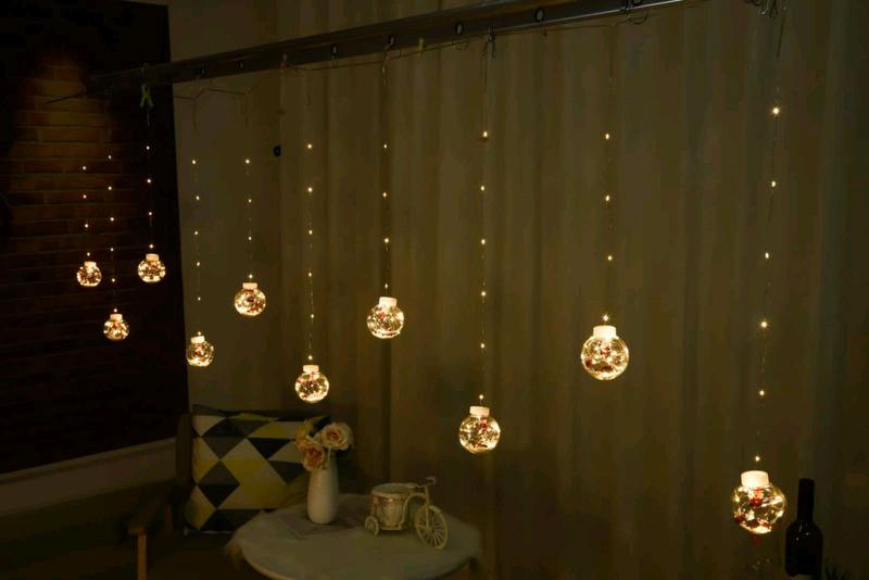 Гирлянда штора шары с наполнением - Фото 2