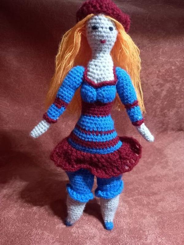 Мягкая Кукла Тильда, Мягкая Вязаная Игрушка, Тильда Ручной Работы