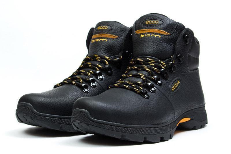 Мужские зимние ботинки из натуральной кожи - Фото 3