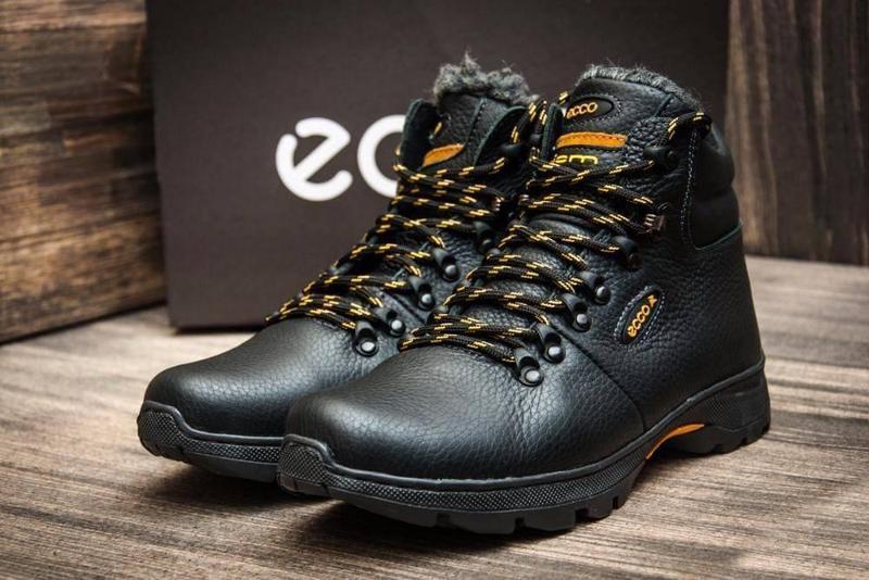 Мужские зимние ботинки из натуральной кожи - Фото 4