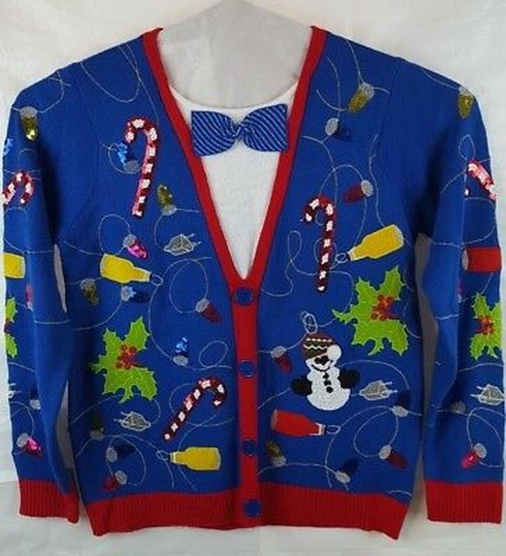 Большой выбор! новогодний джемпер ,праздничный свитер  с атриб...