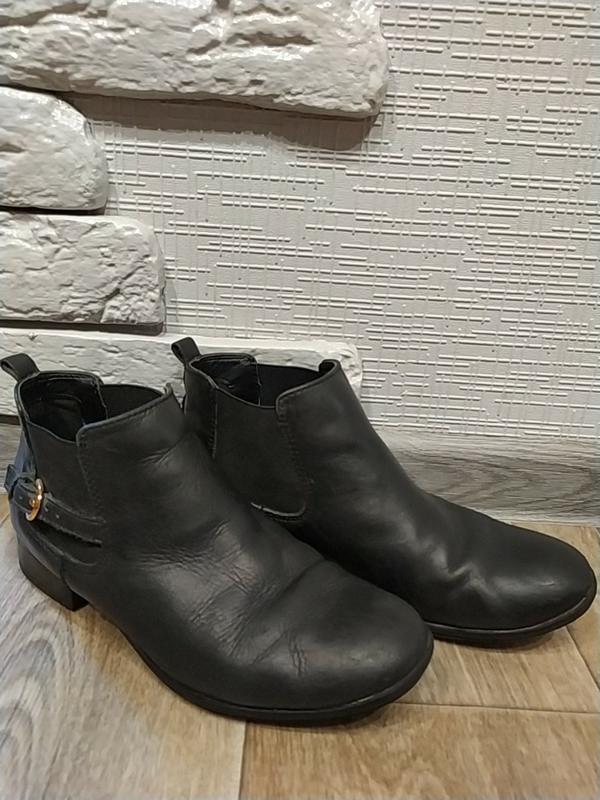 Ботинки весна-очень, кожаные