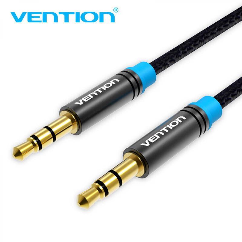 Прочный 3,5 мм aux аудио кабель в оплетке от Vention длиной 1 м