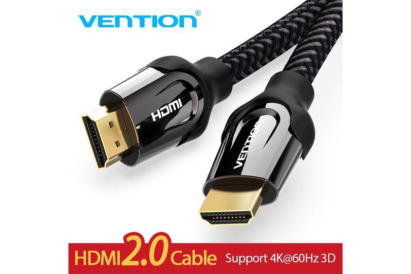 Vention HDMI 2.0 кабель в оплетке (1,5 метра) 18 Гбит 4K/60Гц ARC