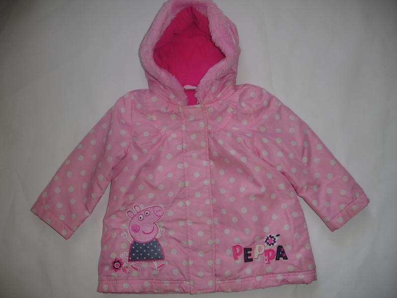 Фирменная george демисезонная куртка с пеппой на 1,5-2 года