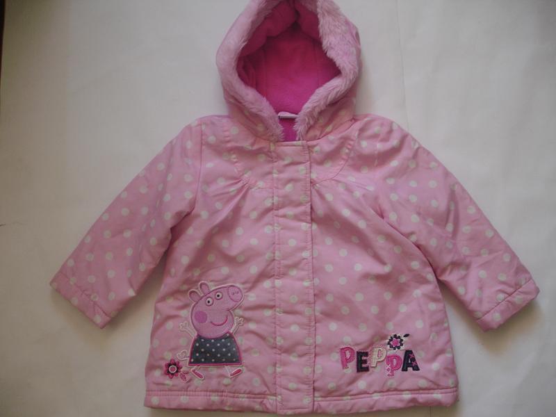 Фирменная george демисезонная куртка с пеппой на 1,5-2 года - Фото 3