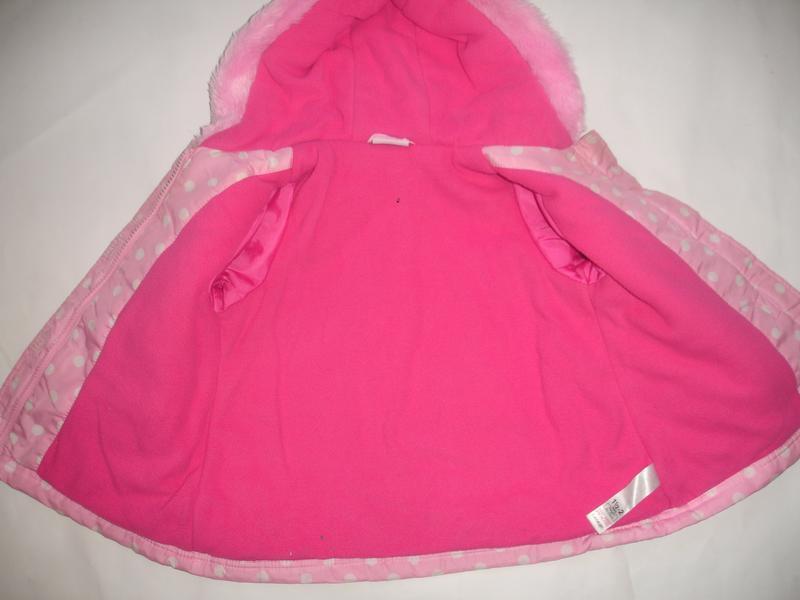 Фирменная george демисезонная куртка с пеппой на 1,5-2 года - Фото 4