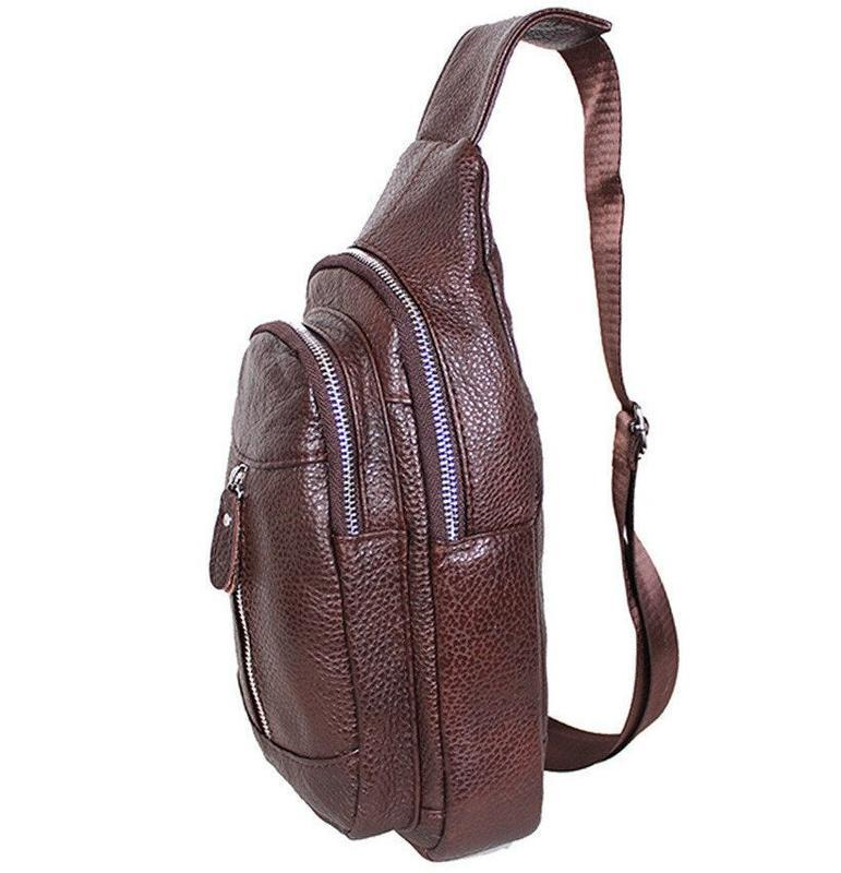 Кожаная мужская сумка коричневая на плечо рюкзак 31х18 кд318 b... - Фото 8