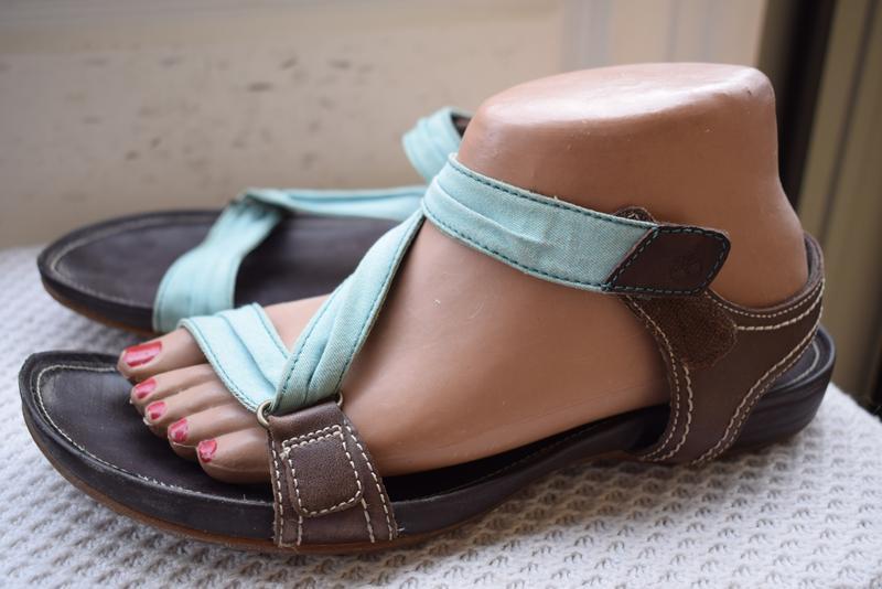 Кожаные босоножки сандали сандалии timberland р.41 26,5 см