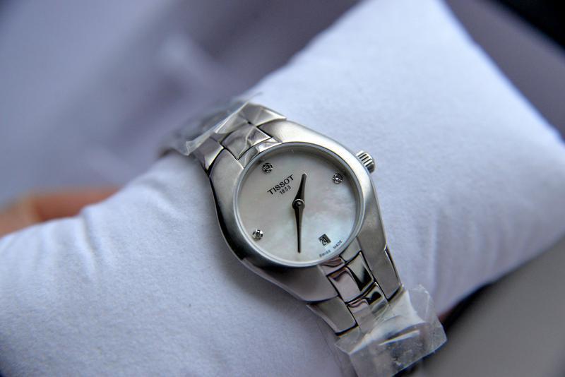 Швейцарские женские часы с бриллиантами tissot подарок девушке