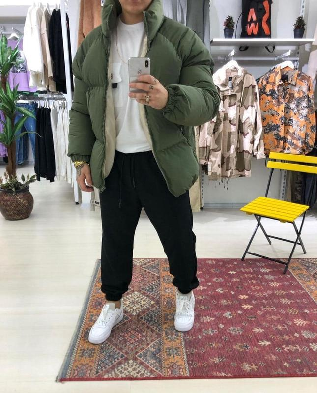 Мужская зимняя куртка пуховик - Фото 5