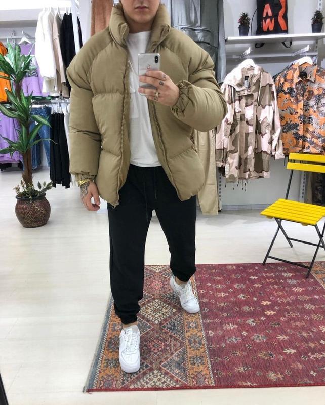 Мужская зимняя куртка пуховик - Фото 2