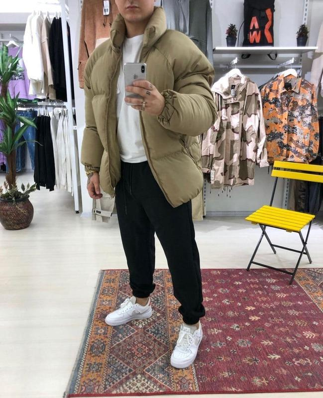 Мужская зимняя куртка пуховик - Фото 3