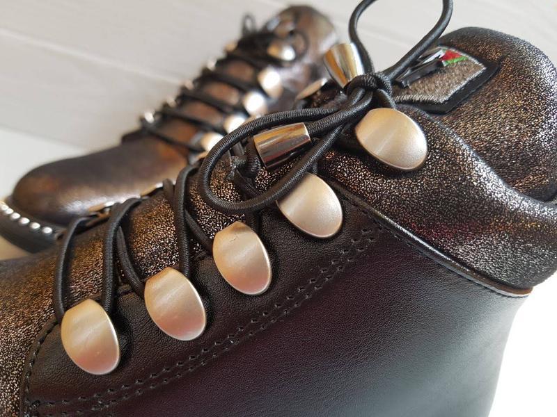 Блестящие легкие утепленные деми ботинки для девочки на флисе ... - Фото 6