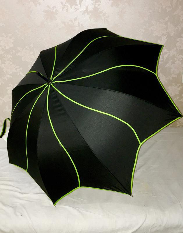 Зонтик зонт парасолька трость черный