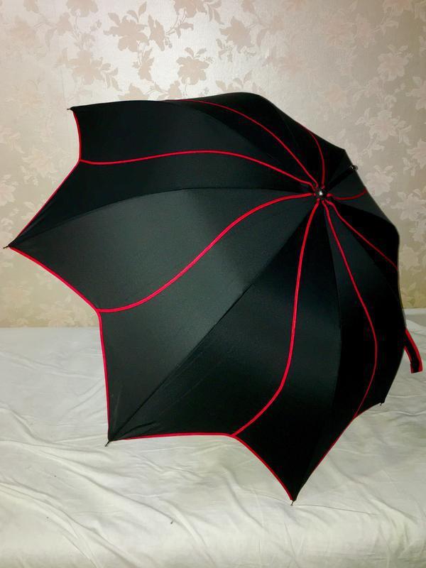 Зонт зонтик парасолька трость черный