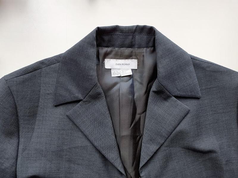 Шерстяной пиджак H&M 100% шерсть мужской жакет S/M куртка френч на ... | 600x800