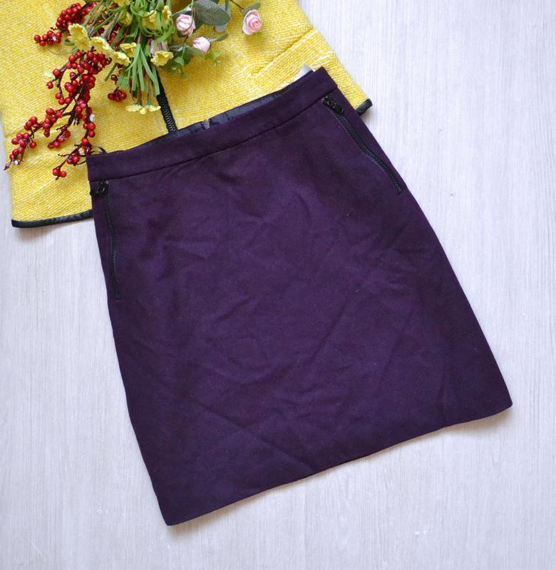 Шерстяная короткая юбка с карманами esprit