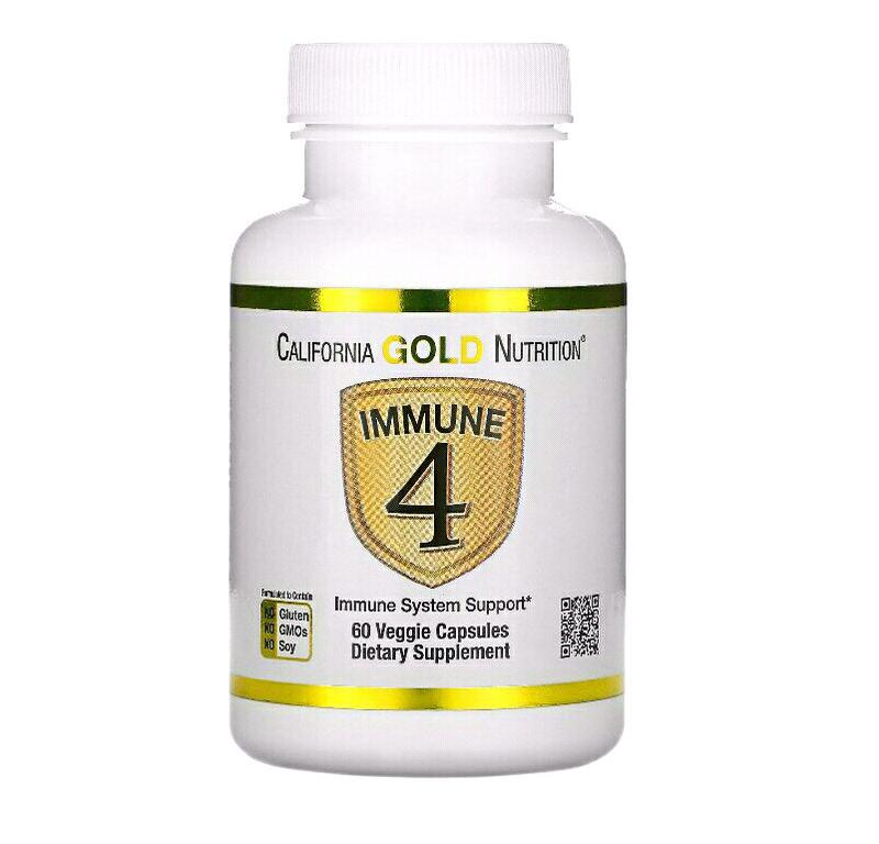 Immune4, комплекс для иммунитета, витамин Д, С, цинк, селен