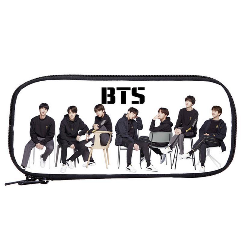 Школьный пенал с участниками корейской группы BTS