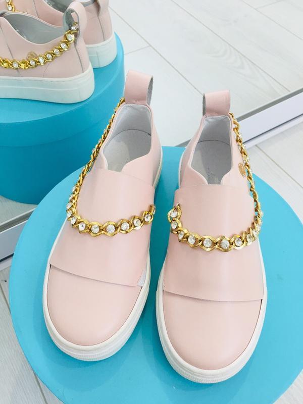 Miss blumarine слипоны туфли  кожа