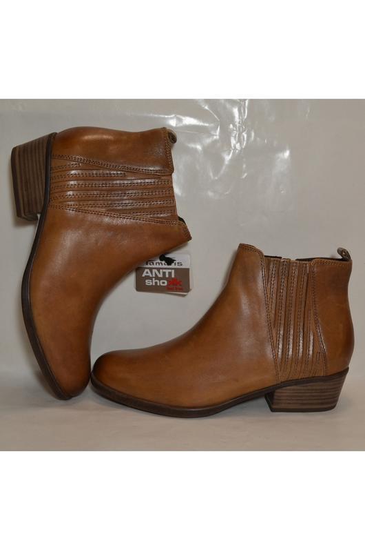 Германия tamaris 100% натуральная кожа! ботинки туфли повыш ко...