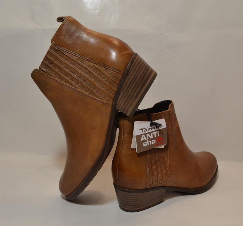 Германия tamaris 100% натуральная кожа! ботинки туфли повыш ко... - Фото 7
