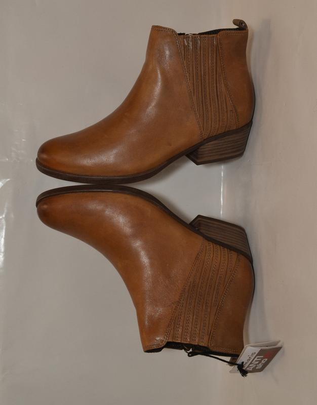 Германия tamaris 100% натуральная кожа! ботинки туфли повыш ко... - Фото 9