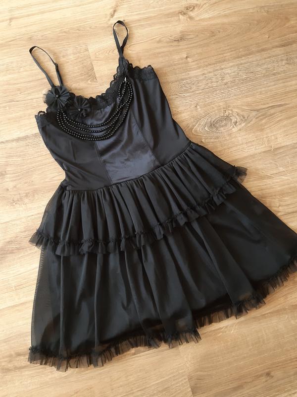 Черное платье комбинация на новый год