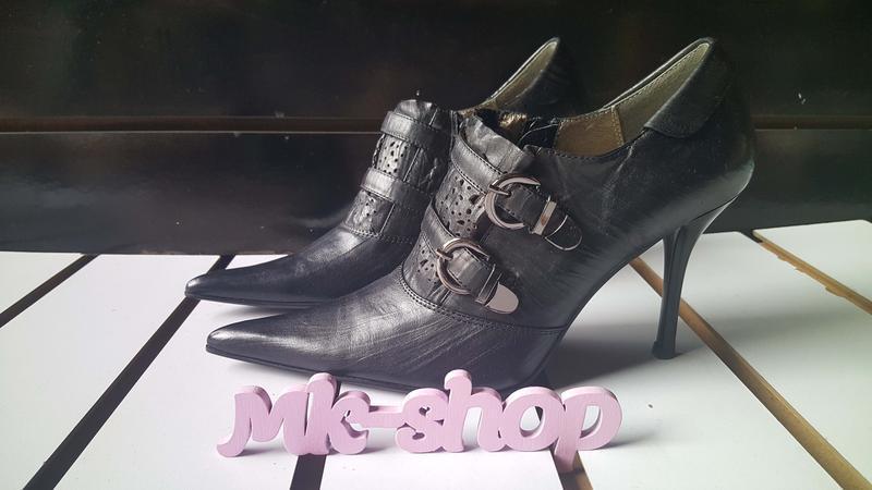 Женские кожаные туфли фирмы blue tempt 118 - Фото 2