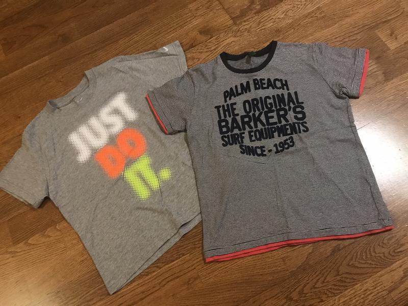 Комплект (2 шт ) футболок на мальчика 7-8 лет/122-128 см рост