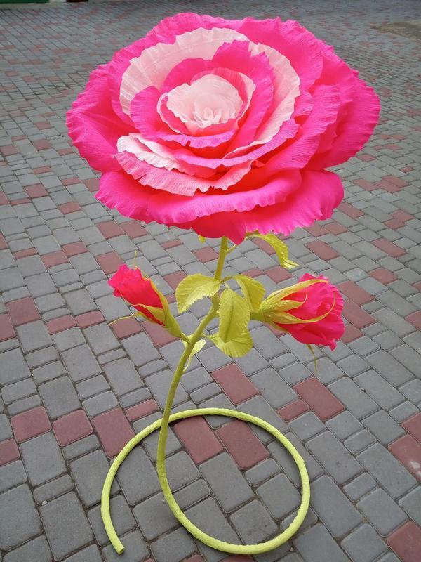 Цветок из гофрированной бумаги - Фото 2
