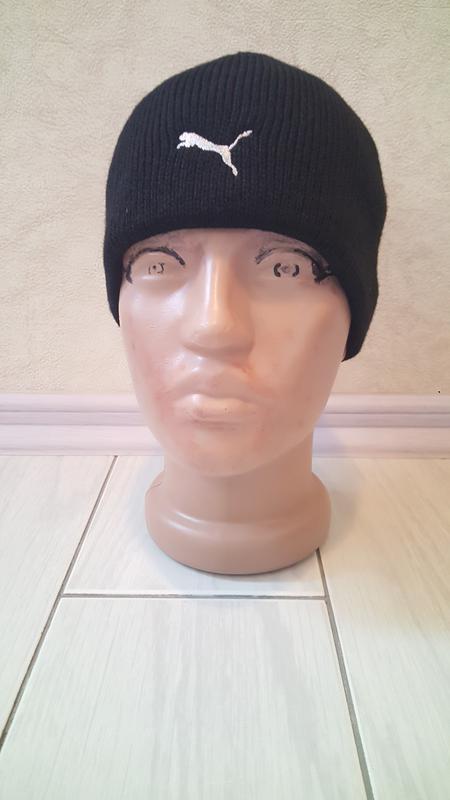 Подростковая шапка puma оч.теплая