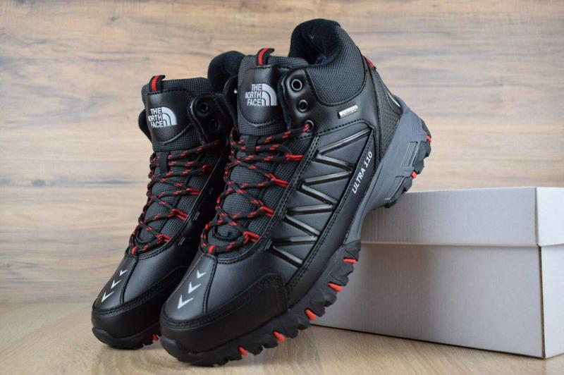 Ботинки The North Face Ultra 110 черные с красным. - Фото 3
