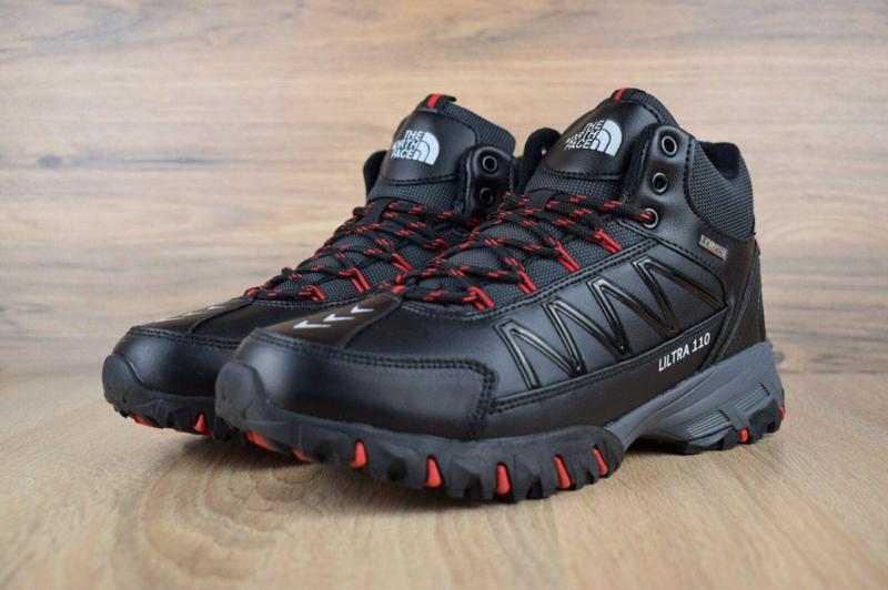 Ботинки The North Face Ultra 110 черные с красным. - Фото 6