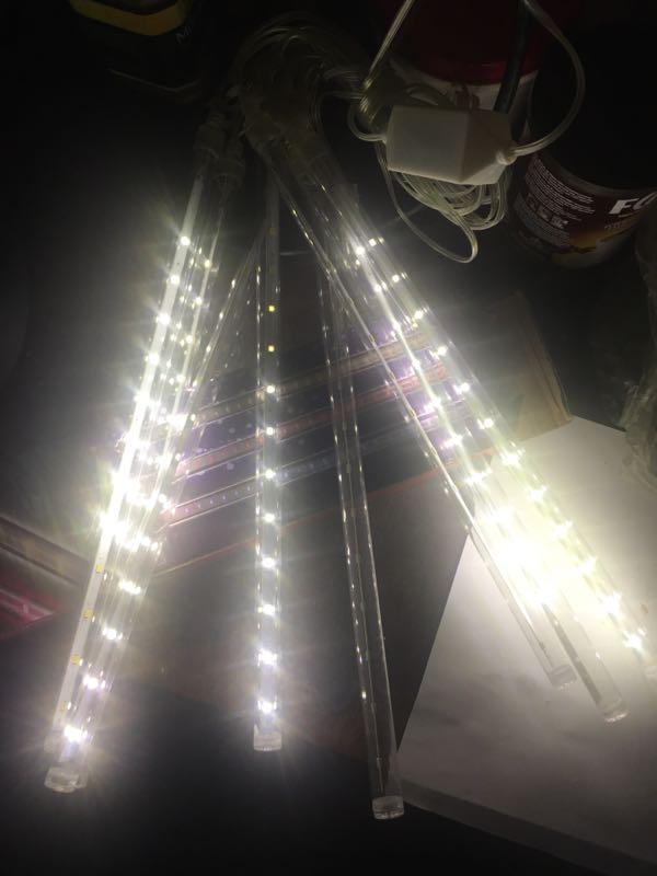 Гирлянда Сосулька LED 3м.*30-50-80см, 8шт, метеорит, уличная - Фото 5