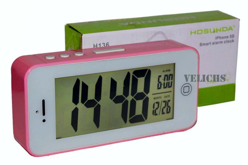 Электронные часы с календарем и будильником H136