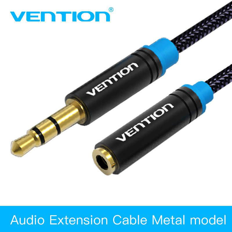Vention новый прочный 3,5 мм aux аудио удлинитель в оплетке (1 м)